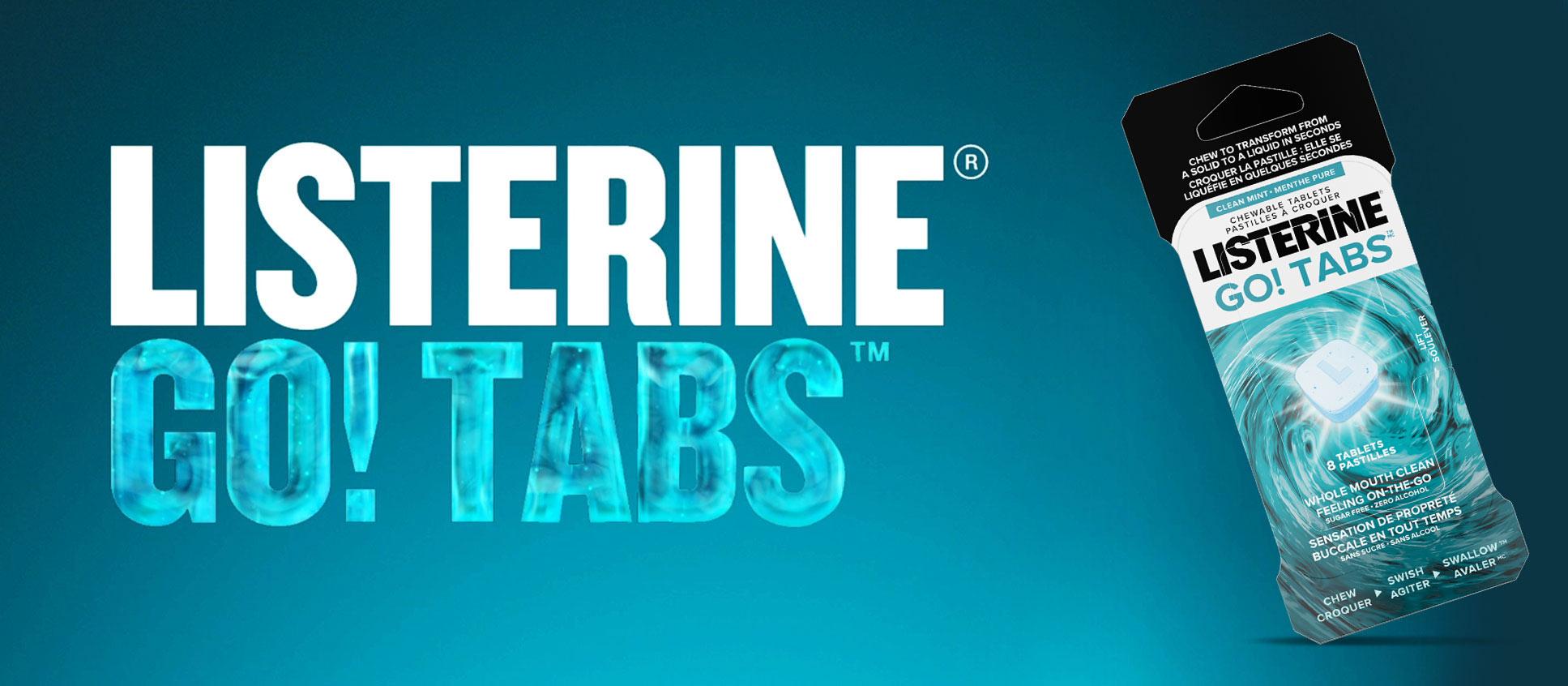Listerine Go Ready Tabs for oral healthcare