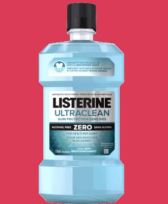 Listerine Nightly Reset mouthwash bottle