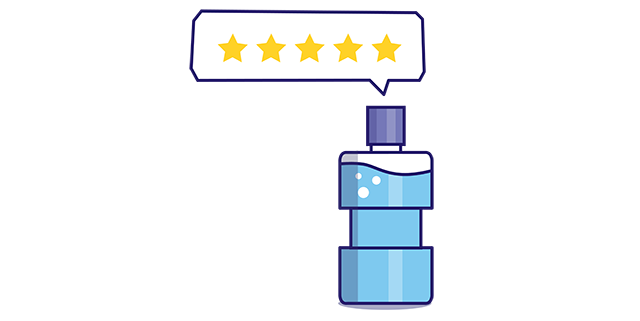 5 star rating and reviews for Listerine mouthwash