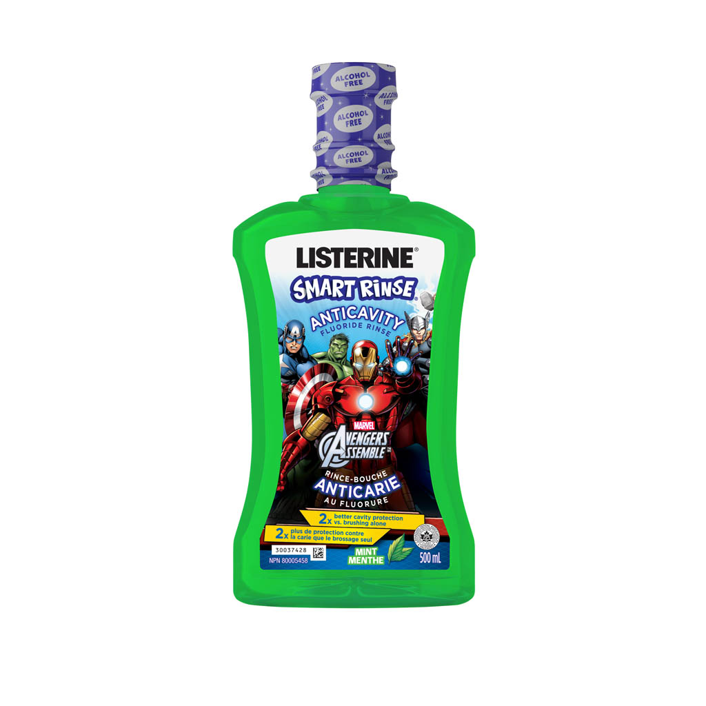 Listerine Smart Rinse Mint Mouthwash featuring Marvel Avengers